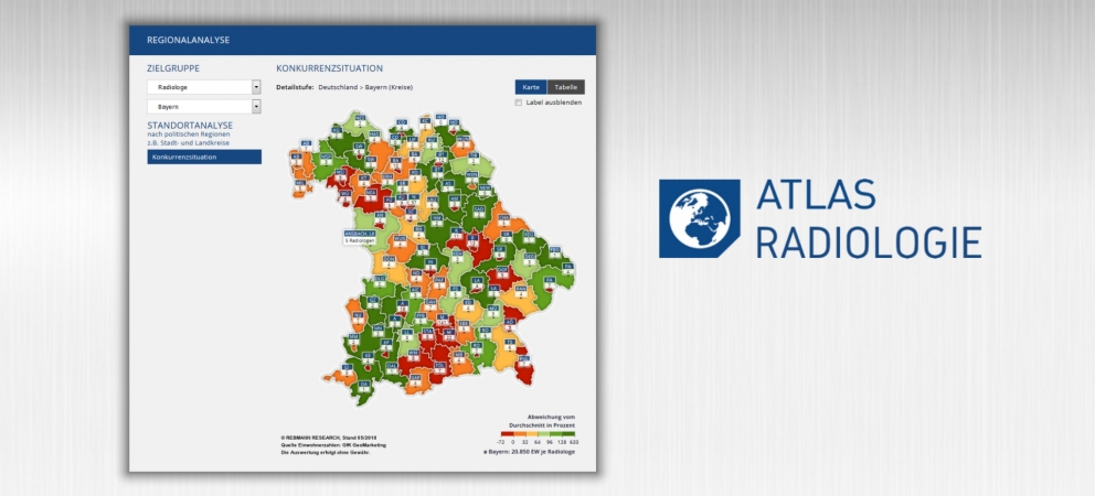 Radiologie: Interaktive Landkarte sorgt für Durchblick in einem 5,5-Mrd.-Euro-Markt