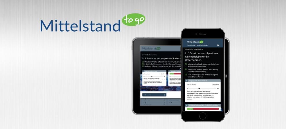 Neue Web-App für die betriebliche Risikoanalyse